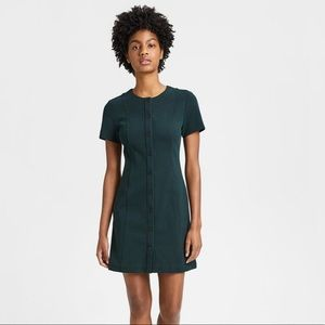 NWT: Theory Textured Knit Easy Snap Shift Dress